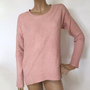 NWT Calvin Klein Blush Pink Soft Cotton Sweater L